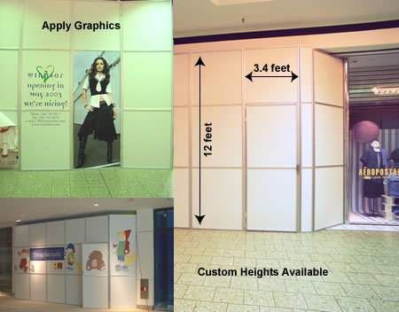Mallforms Instant & Reusable Retail Barricades with Graphics