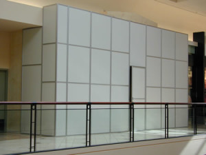 Construction Enclosures, Construction Temporary Walls, Mall Barricades,